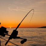 bent rod against the sunset