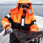 angler caught halibut