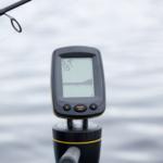 handy fishfinder against water
